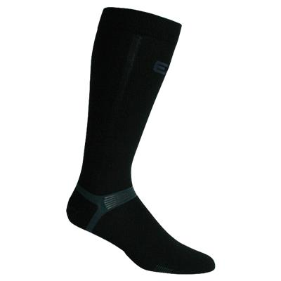 Black (Elite Hockey Pro X700 Ultra Bamboo Knee Length Socks - Adult)