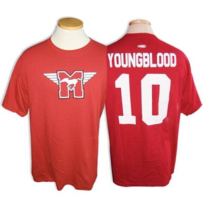 Red (Mad Brothers Hamilton Mustangs  10 Youngblood Tee Shirt - Mens) f2f5a36ee8