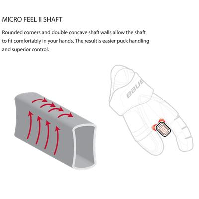Dual Concave Shaft Walls For Long Lasting Comfort (Bauer Vapor APX GripTac Composite Stick)