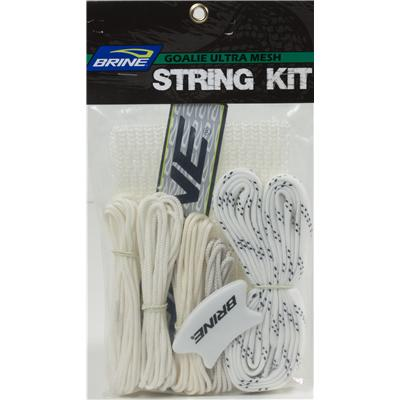 White (Brine Goalie Stringing Kit - Ultra Mesh)