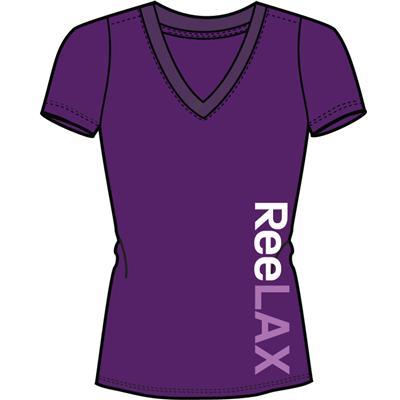 Purple (Reebok ReeLAX V-Neck Tee Shirt - Womens)