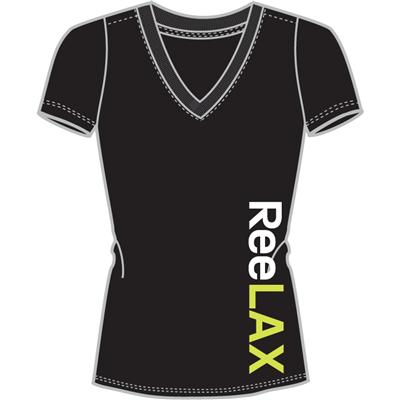 Black (Reebok ReeLAX V-Neck Tee Shirt - Womens)