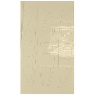White (Cascade Vent Helmet Decal - CPX-R)