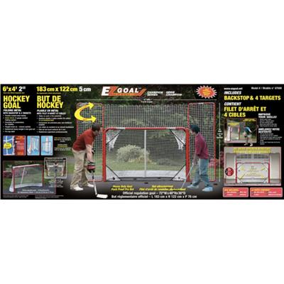 Mo 67008 w/Rounded Corners And Skirt On Bottom Net (EZ Goal Folding Metal Goal With Corner Targets and Backstop)
