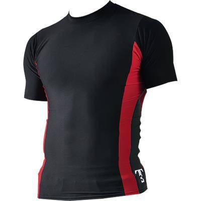 Black/Red (Triple Threat Cool Skin Tee Shirt - Mens)