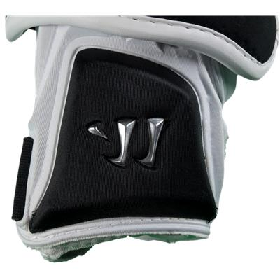 Chrome Warrior Logo On Bottom Half Of Pad (Warrior Nation Arm Guards)