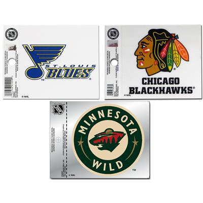 3.5 x 4.5 Static Cling Decals (NHL Team Cling Decal)