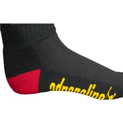 Ventilated Top And Reinforced Arch (Adrenaline Rasta Socks)