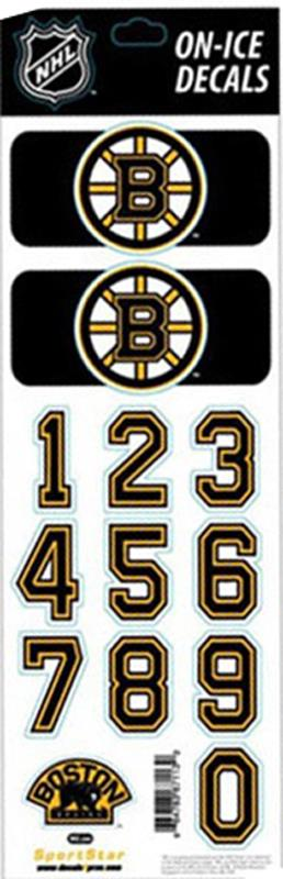 Boston bruins nhl hockey helmet decals