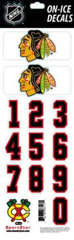 Chicago blackhawks nhl hockey helmet decals