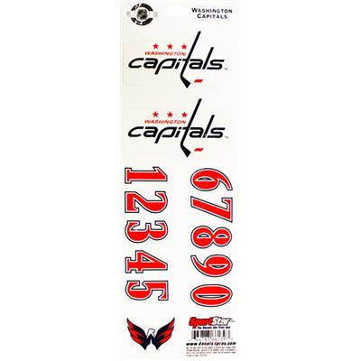 Washington Capitals (NHL Hockey Helmet Decals)