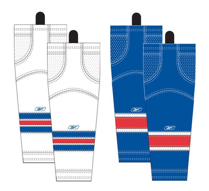 20a1ae26f48 Assorted Team Colors (Reebok New York Rangers Edge SX100 Hockey Socks -  Intermediate)