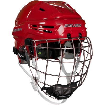Red (Bauer RE-AKT Hockey Helmet Combo)