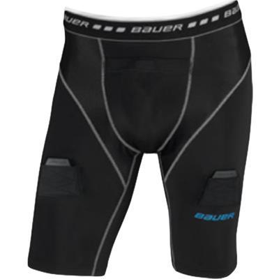 Black (Bauer Core Compression Jock Shorts)
