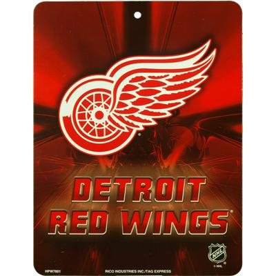 Detroit Red Wings (NHL Team Plastic Wall Sign)