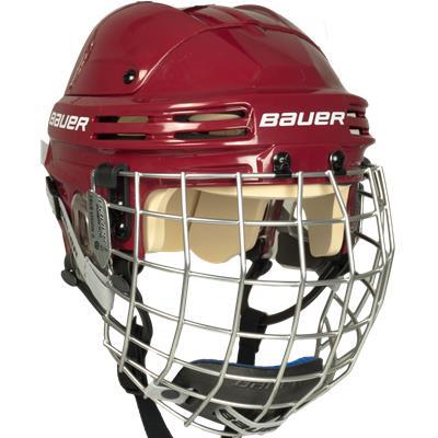 Maroon (Bauer 4500 Hockey Helmet Combo)