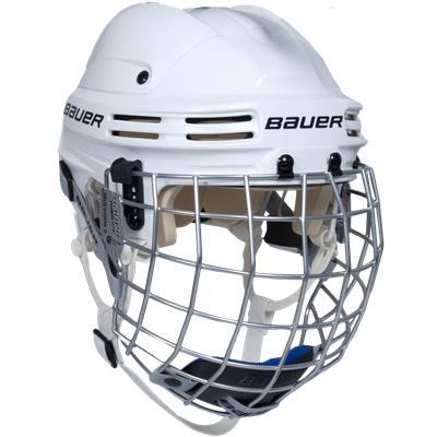 White (Bauer 4500 Hockey Helmet Combo)