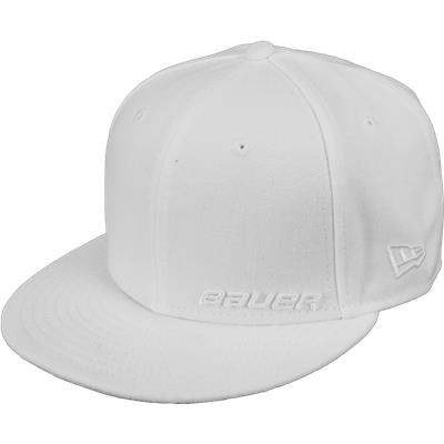 White (Bauer 59FIFTY Fitted Hat - Adult)