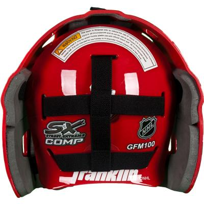 Full-Coverage, Adjustable Backplate (Franklin NHL Team SX COMP GFM 100 Street Hockey Goalie Mask)