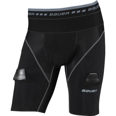 Black (Bauer Elite Compression Lock Jock Shorts)