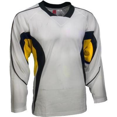 White/Navy/Yellow (FlexxIce LITE 14100 Practice Jersey - Junior)