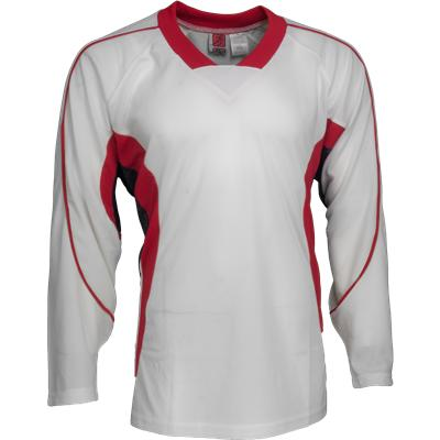 White/Red/Black (FlexxIce LITE 14100 Practice Jersey - Junior)