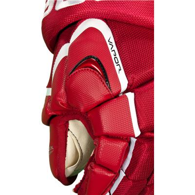 Synthetic Leather And Cable Mesh Shell (Bauer Vapor X7.0 Gloves)
