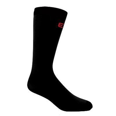 Black (Elite Hockey Pro Liner Knee Length Coolmax Socks)