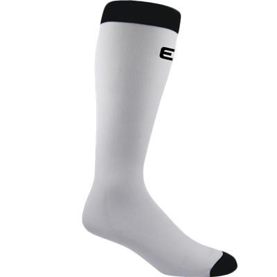 White (Elite Hockey Pro Liner Knee Length Coolmax Socks)