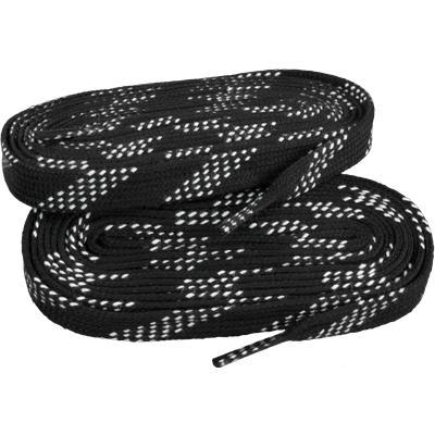 Black/White (Elite Hockey Pro-X7 Molded Tipped Laces)