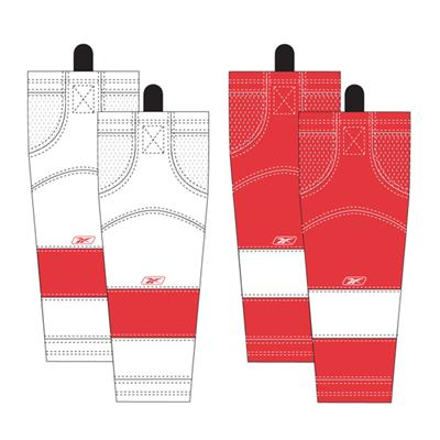 Detroit Red Wings (Reebok Detroit Red Wings Edge SX100 Hockey Socks)