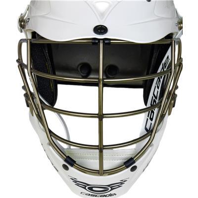 Front View (Cascade CPX-R Helmet - Titanium Gold Mask)