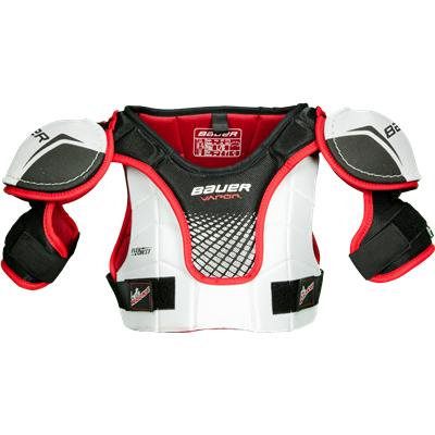 Poly Reinforced In Bicep, Sternum, And Clavicle (Bauer Vapor Lil Rookie Hockey Shoulder Pads)