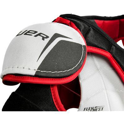 Low Profile Shoulder Cap Design (Bauer Vapor Lil Rookie Hockey Shoulder Pads)