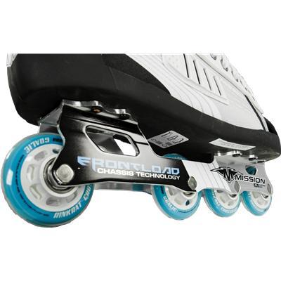 CNC Aluminum Frontload 4-Wheel (Mission Inhaler FL:1 Goalie Skates)