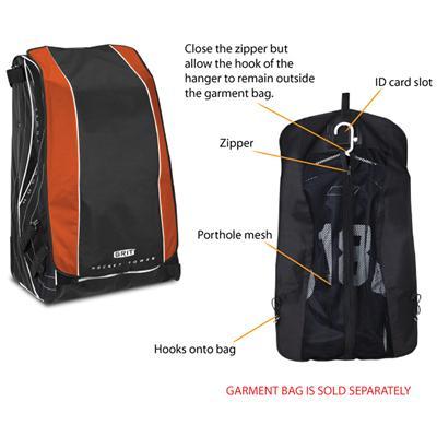 Garment Bag (Sold Separately) (Grit HT4 Hockey Tour Wheel Bag -  Intermediate) 166161b1348