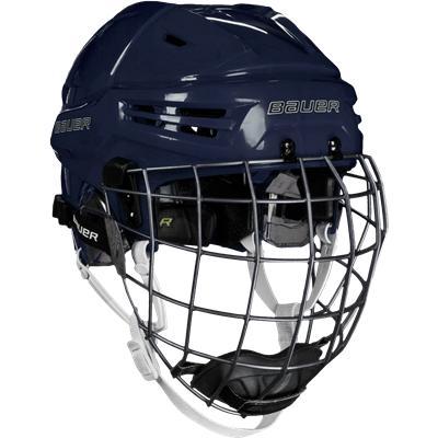 Navy (Bauer RE-AKT Hockey Helmet Combo)