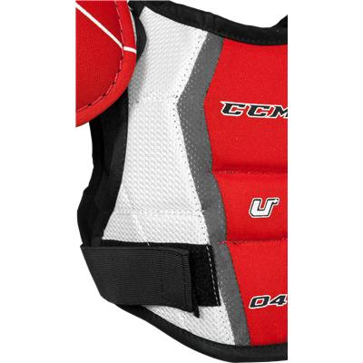 Straps Keep You Secure (CCM U + 04 Shoulder Pads)