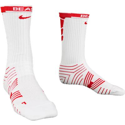 Red/White (Nike Performance Crew Socks - 2 Pack)