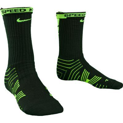 Lime/Black (Nike Performance Crew Socks - 2 Pack)