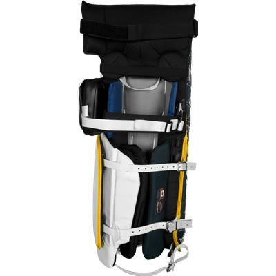 Leather & Buckle, Nylon & Clip Straps (Bauer Reactor 6000 Vintage Design Goalie Leg Pads)