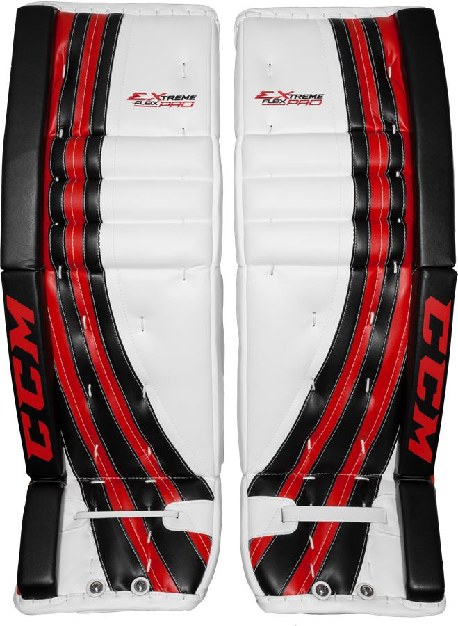 3204e92d179 White Black Red (CCM Extreme Flex Pro Goalie Leg Pads - Senior)
