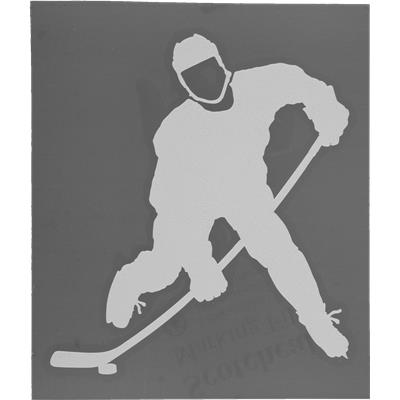 Easily Applies To Any Window Or Mirror (Hockey Shooter Sticker)