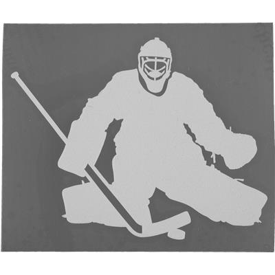 Easily Applies To Any Window Or Mirror (Goalie Car Sticker)