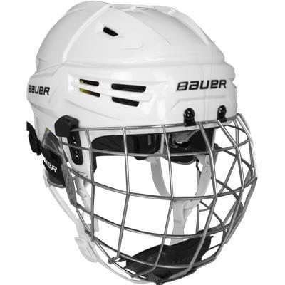 White (Bauer IMS 9.0 Hockey Helmet Combo)