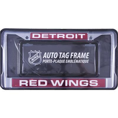 Detroit Red Wings (NHL Laser Cut Chrome License Plate Frame)