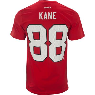 Back View (Reebok Patrick Kane Chicago Blackhawks Tee Shirt - Mens)
