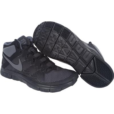 Black/Grey (Nike Free Trainer 3.0 Mid Shoes)