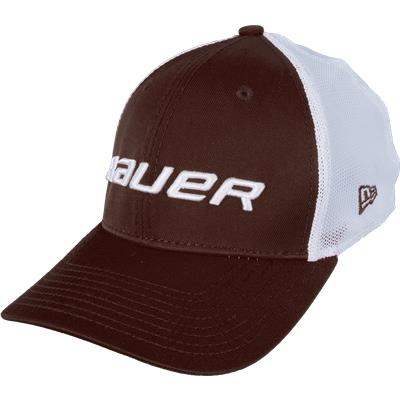 Brown (Bauer 39THIRTY Stretch Mesh Fitted Hat)