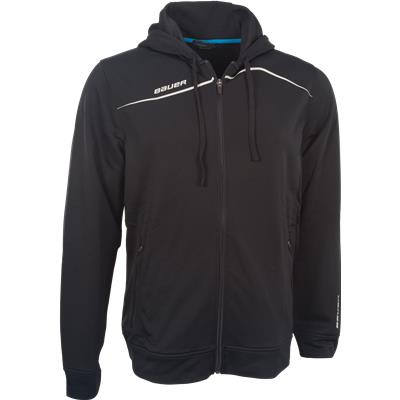 Black (Bauer Premium Team Full-Zip Hoodie - Mens)